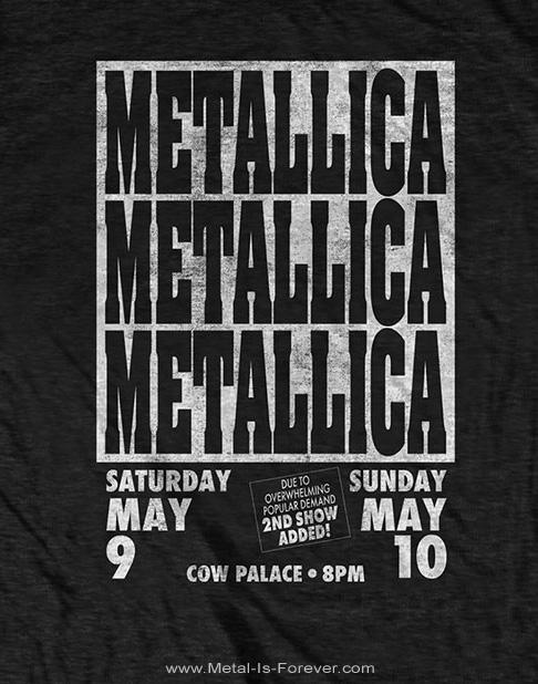 METALLICA (メタリカ) COW PALACE 「カウ・パレス」 エコTシャツ