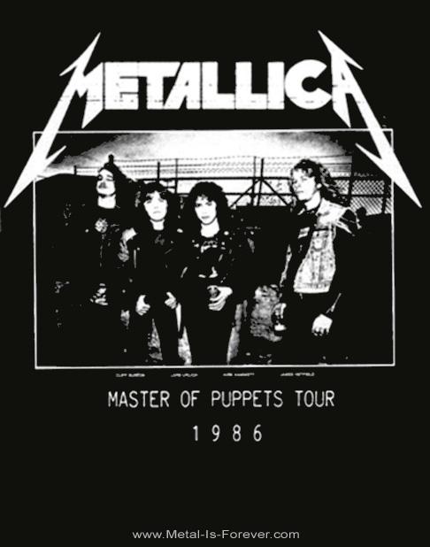 METALLICA -メタリカ- MASTER OF PUPPETS 「メタル・マスター」 1986年ツアー レディースTシャツ