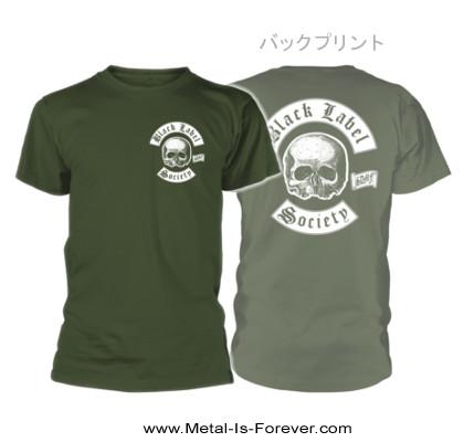 BLACK LABEL SOCIETY -ブラック・レーベル・ソサイアティ- SKULL LOGO POCKET 「スカル・ロゴ・ポケット」 Tシャツ(カーキ)
