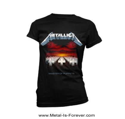 METALLICA -メタリカ- MASTER OF PUPPETS 「メタル・マスター」 レディースTシャツ