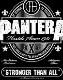 PANTERA (パンテラ) STRONGER THAN ALL 「ストロンガー・ザン・オール」 バックパッチ
