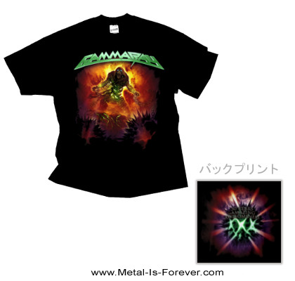 GAMMA RAY (ガンマ・レイ) 30 YEARS GREEN LOGO 「30周年記念・グリーン・ロゴ」 Tシャツ