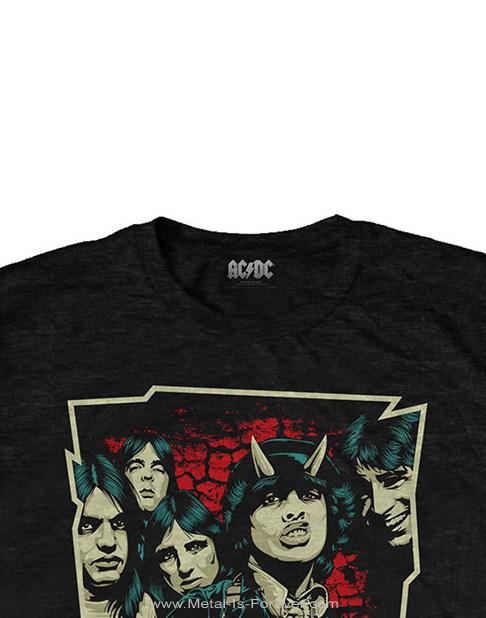 AC/DC (エーシー・ディーシー) HIGHWAY TO HELL 「地獄のハイウェイ」 スケッチ Tシャツ