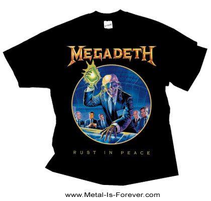 MEGADETH (メガデス) RUST IN PEACE 「ラスト・イン・ピース」 Tシャツ