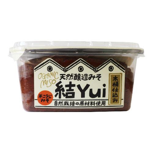 [足立醸造]【冬季限定】自然栽培味噌 結 Yui(米こうじ味噌)