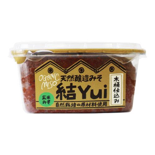 [足立醸造]【冬季限定】自然栽培味噌 結 Yui(玄米味噌)