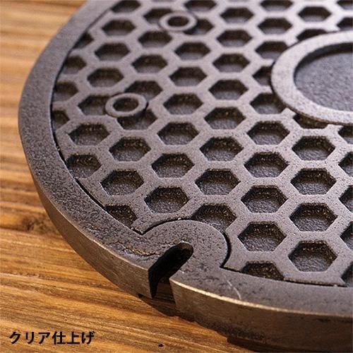ミニチュアマンホール 亀甲 【1/4スケール】