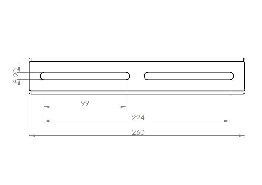 AU003-VIXEN規格 260mm自在アリガタ タカハシ仕様 クリックポスト送料一律200円