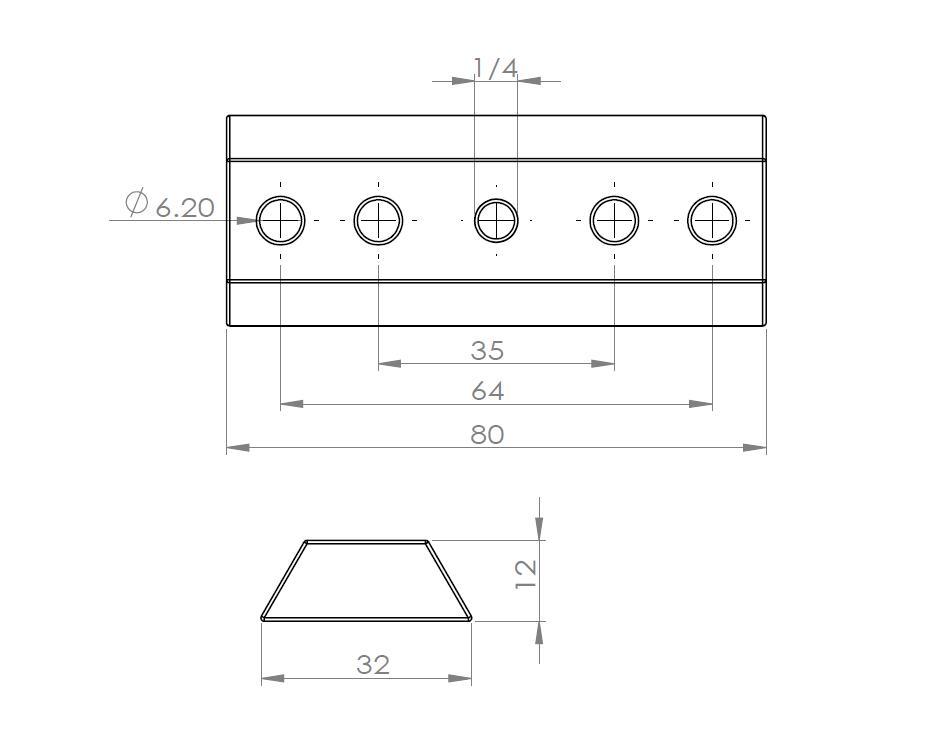 FG310-ビクセンファインダー規格 80mmファインダー脚座 アリガタ クリックポスト送料一律200円