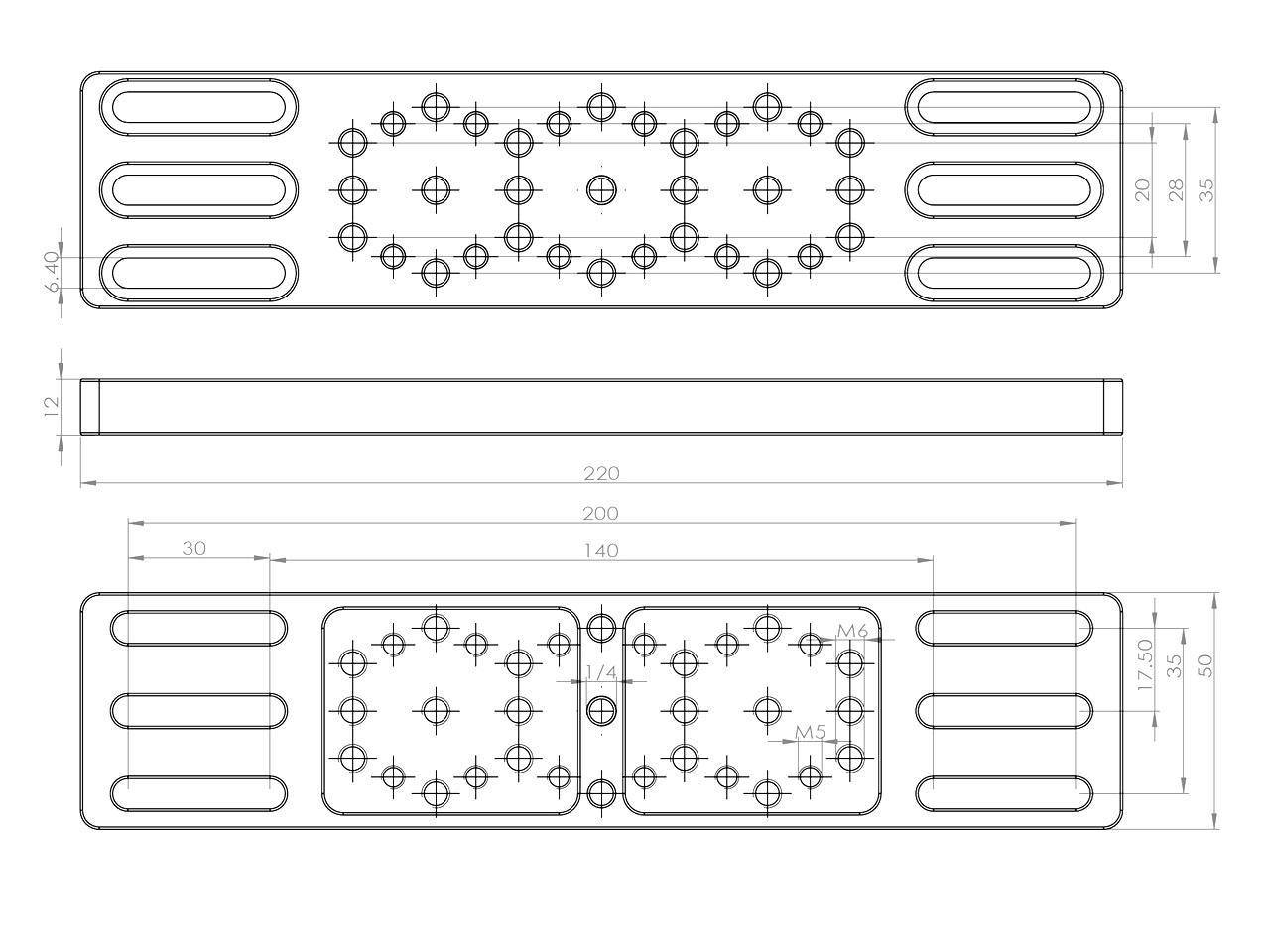 AU016-220mmアクセサリープレート トッププレート クリックポスト送料一律200円