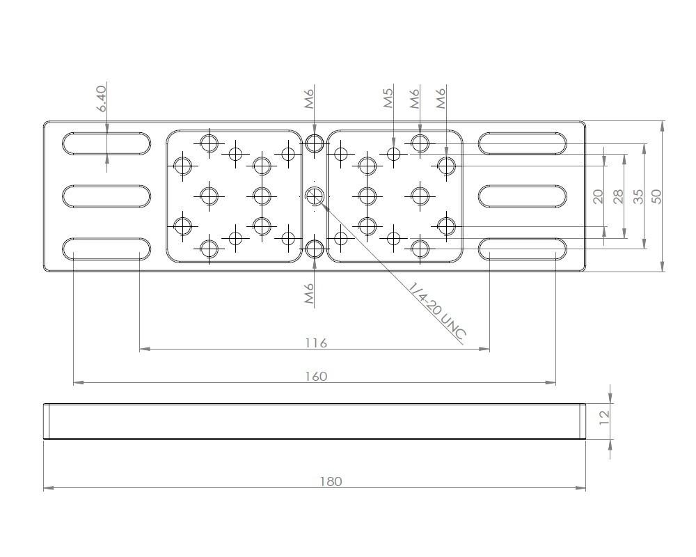 AU012-180mmアクセサリープレート トッププレート 取付ネジ付属 クリックポスト送料一律200円