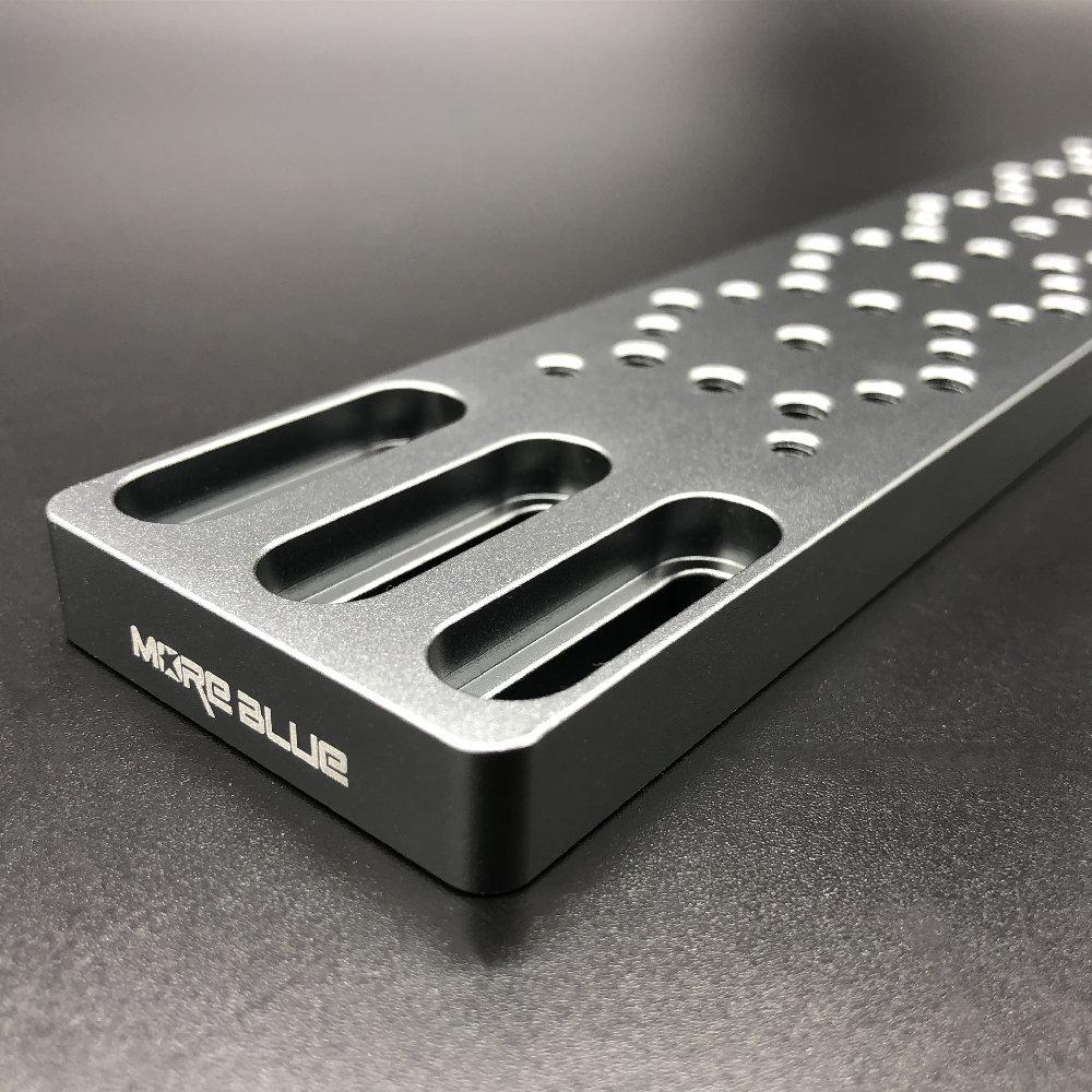 AU011-300mm軽量化アクセサリープレート 取付ネジ付属 クリックポスト送料一律200円
