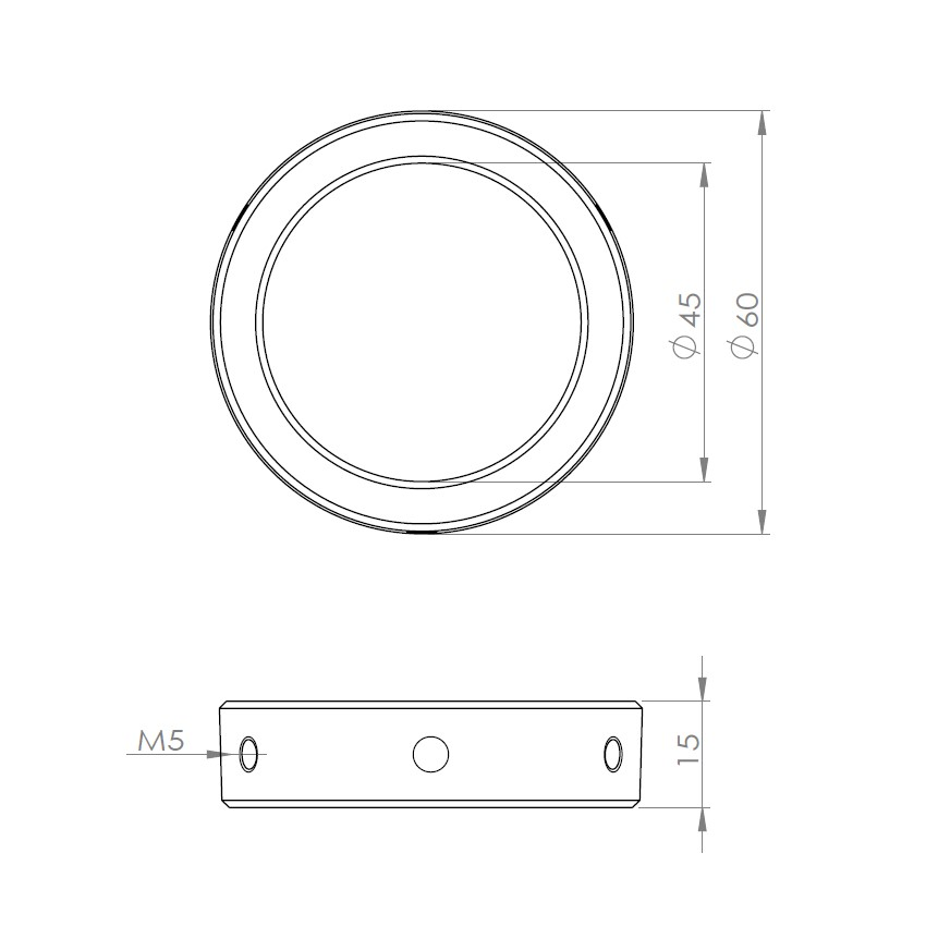 SD018-VIXEN赤道儀用 45-60変換アダプター クリックポスト送料一律200円