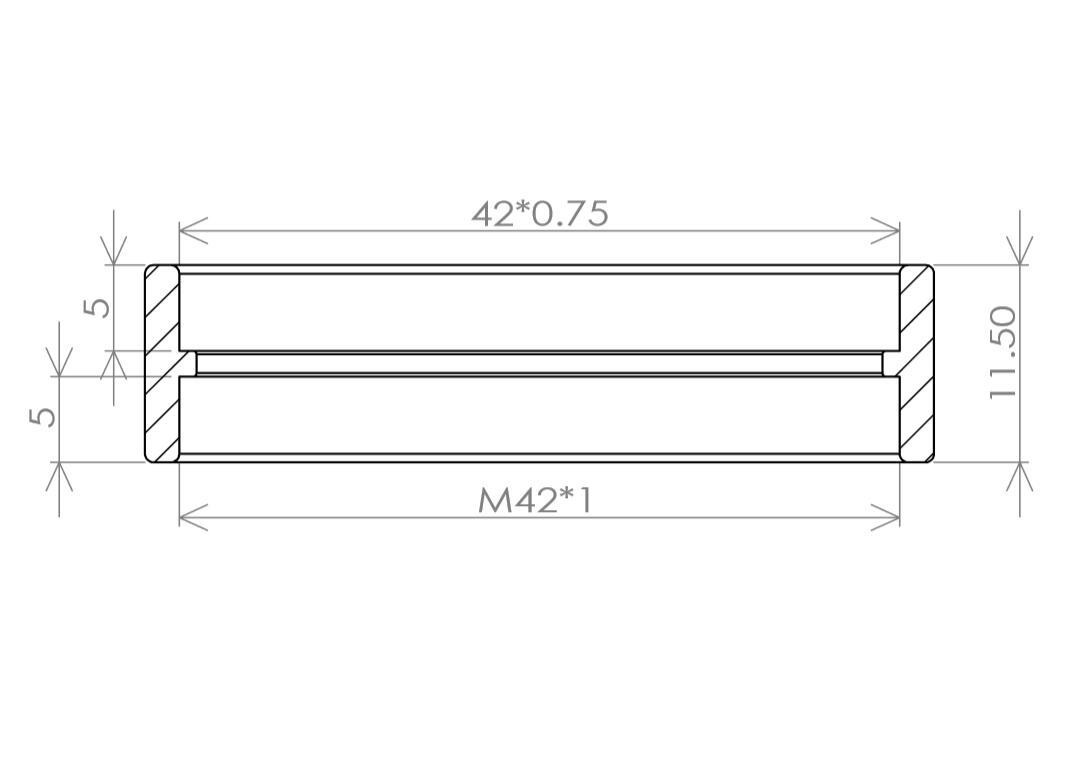 TP567-M42*0.75メス-M42*1メス 変換アダプタ クリックポスト送料一律200円