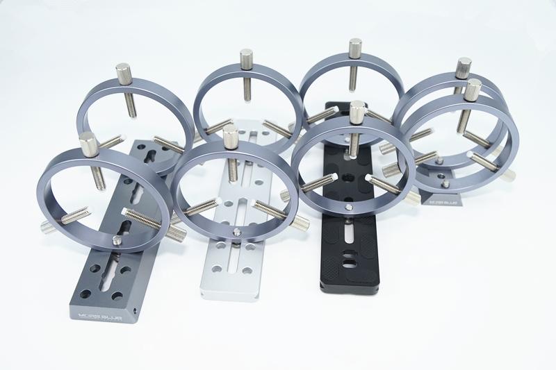 FG309-内径72mmガイド望遠鏡用支持リング 6点止めM6仕様 クリックポスト送料一律200円