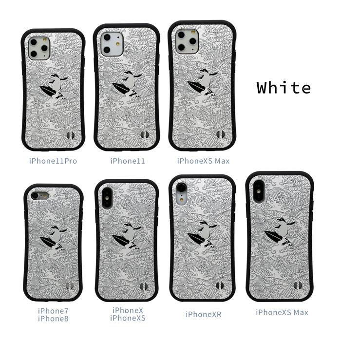 iPhoneケース 【 波 ペンギン 和風 】 耐衝撃 バンパータイプ iPhone12,iPhone12mini,iPhone12Pro,iPhone12ProMAX,iPhoneSE2,SE第2世代,iPhone11,iPhone11Pro,iPhone11ProMAX,iPhoneXR,iPhoneXSMax,iPhoneXS,iPhoneX,iPhone8,iPhone7 ストラップホール付き