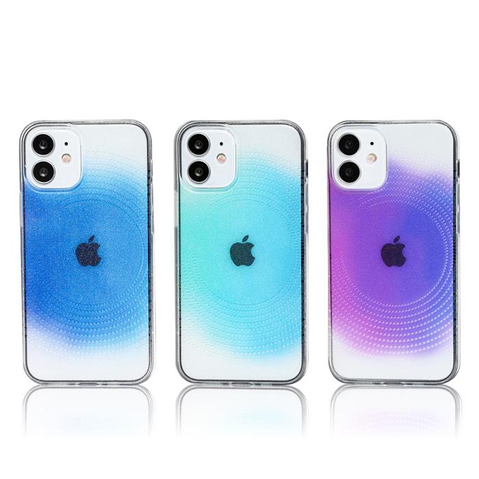iPhoneケース【 サークル ドット 青 水色 紫 TPUソフト クリアケース】Phone12 / iPhone12mini / iPhone12Pro / iPhone12Pro MAX / iPhone11 /iPhoneXS / iPhoneX / iPhone8 / iPhone7 / iPhone6s / iPhone6 クリアハードケース / TPUソフトケース
