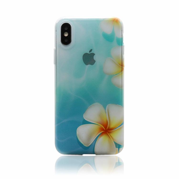 【 水面のプルメリア クリアケース 】TPU ソフトケース iPhone12 iPhone12mini iPhone12Pro iPhone12Pro MAX iPhone SE2 ( SE 第2世代 ) iPhone11  iPhone11Pro iPhone11Pro MAX iPhoneXR iPhoneXS Max iPhoneXS iPhoneX iPhone8 iPhone7 iPhone8 / 7Plus