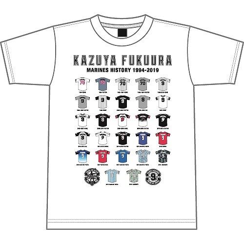 <福浦選手引退記念グッズ><br>福浦選手引退記念歴代ユニフォームTシャツ