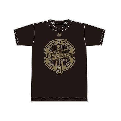 <福浦選手引退記念グッズ><br>福浦選手引退ゴールドロゴTシャツ