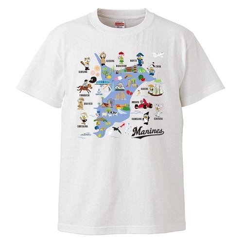 ホームタウンMAP Tシャツ ホワイト