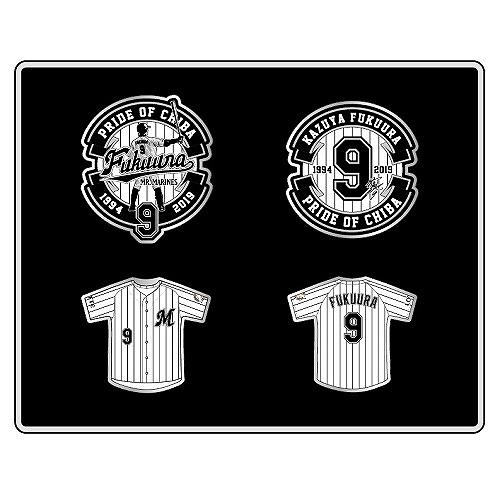 <福浦選手引退記念グッズ><br>福浦選手引退記念歴代ピンズ4個セット
