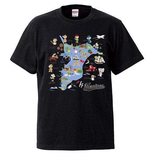 ホームタウンMAP Tシャツ ブラック