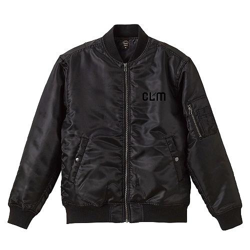「CLM」MA-1ジャケット(刺繍) ブラック