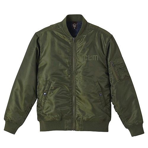 「CLM」MA-1ジャケット(刺繍) オリーブ