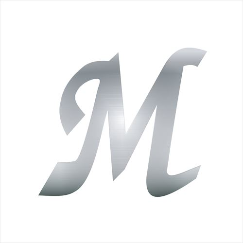 アルミステッカー Mロゴ