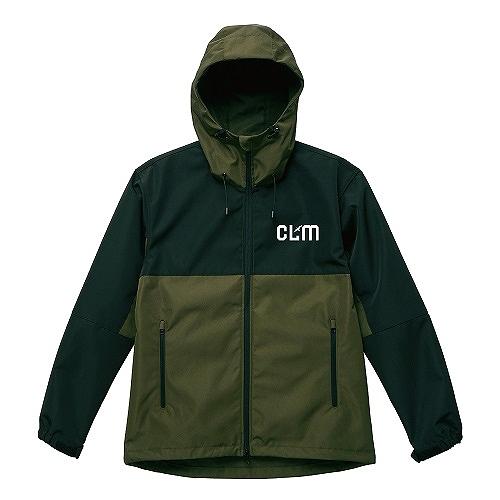 「CLM」スイッチングシェルパーカ オリーブ/ブラック