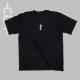 ウィンドウ 半袖Tシャツ ブラック