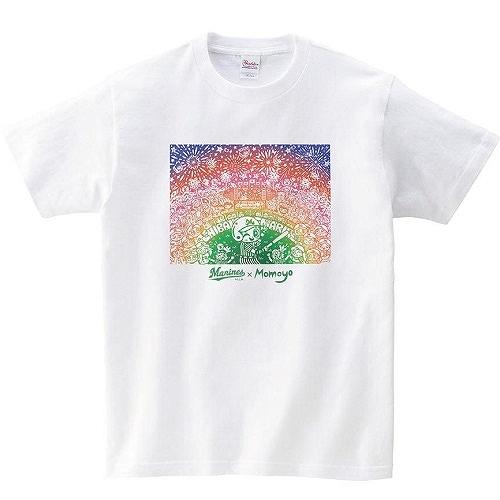 Momoyo×Marines Tシャツ(レインボー)
