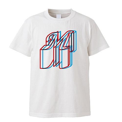 Anaglyph M Tシャツ ホワイト