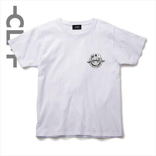 カモメかすれカレッジロゴ 半袖TEE ホワイト(CLM21-015)