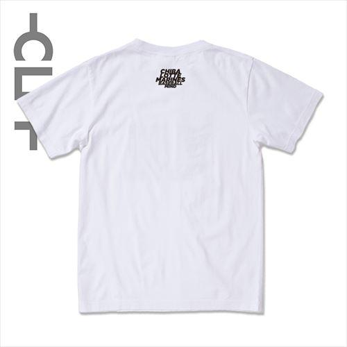 グラデーションMINDロゴ 半袖TEE ホワイト(MRT21-1004)