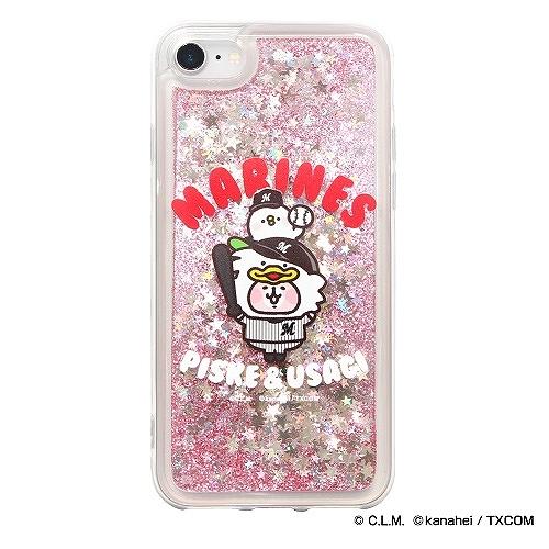 カナヘイの小動物 × マリーンズ グリッターiPhoneクリアケース