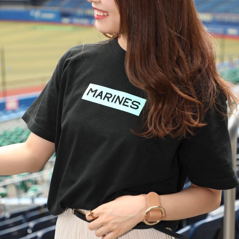 BSWマリーンズBOX Tシャツ(ブラック)