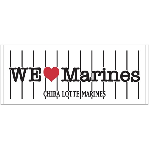 We Love Marines フェイスタオル