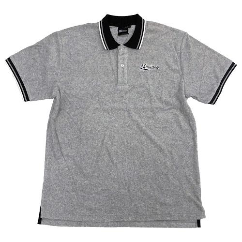 パイルポロシャツ グレー