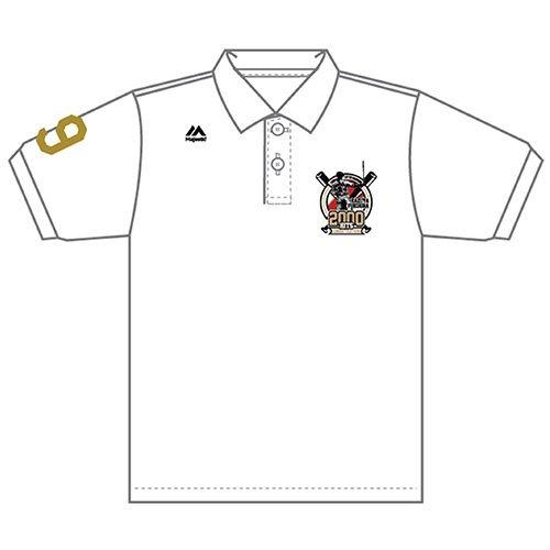 福浦選手2千本安打達成記念ポロシャツ WH(Sサイズ)