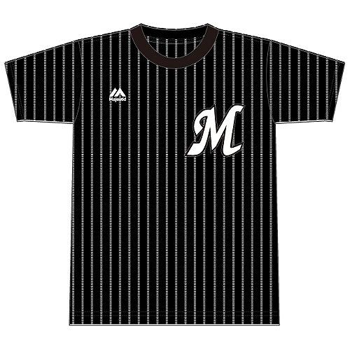 カモメストライプTシャツ 黒