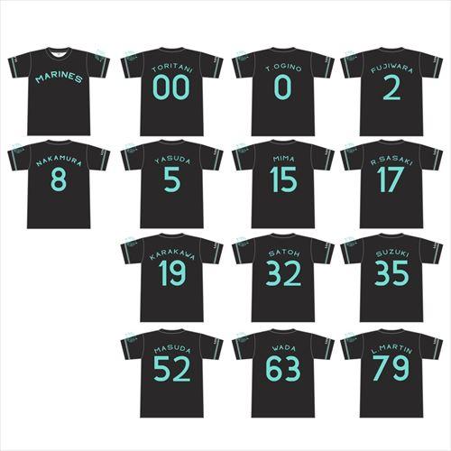 ネーム&ナンバーTシャツ BLACK SUMMERver.
