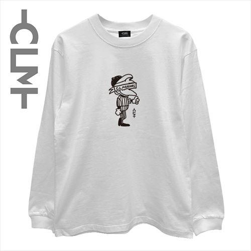 マーくんイラスト長袖T ホワイト(CLM21-001)