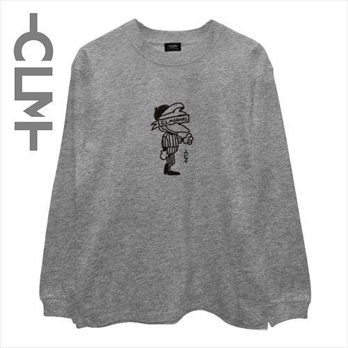 マーくんイラスト長袖T 杢グレー(CLM21-001)