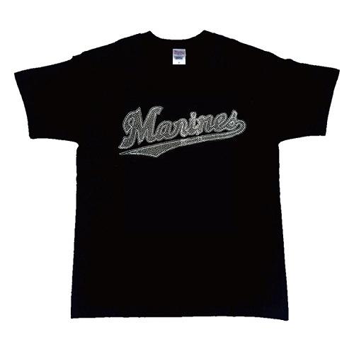 マリーンズロゴラインストーンTシャツ