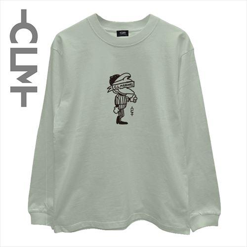 マーくんイラスト長袖T ピスタチオ(CLM21-001)