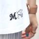 BLACK SUMMER WEEKEND サークルロゴ ビッグTシャツ ホワイト