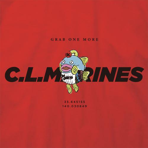 謎の魚 マリーンズロゴ半袖T レッド(CLM21-002)
