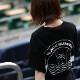 BLACK SUMMER WEEKEND サークルロゴ ビッグTシャツ ブラック